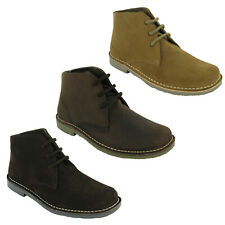 Roamers 3 Eye Desert Boots Mens Real Suede or Waxy Leather M378 Shoes UK6-14