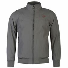 Lee Cooper Mens Bomber Jacket Waterproof Ribbed Cuffs Full Zip High Neck Top