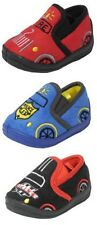Little Boys Toddlers Racing Car Police Fire Engine Slippers BLUE BLACK RED 3-10