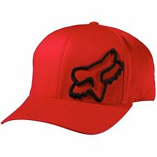 NEW FOX FLEX 45 FLEXFIT HAT FLEX FIT RED WITH BLACK CAP HAT LID MENS ADULT GUYS