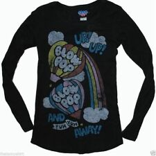 New Authentic Junk Food Blow Pop Juniors Thermal Shirt in Black Size Large