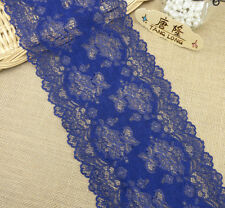 1y/5yard Navy Sewing Embroidery Stretch Lace Fabric Trim Tulle Craft L2980