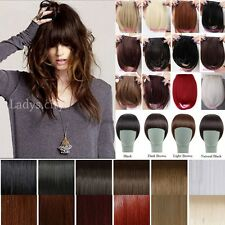 UK Real Thick Straight Bangs Clip in on Fringe Hair Extensions Human Favored L99