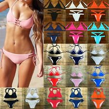 Sexy Womens Push-up Bikini Set Triangle Swimsuit Swimwear Brazilian Bathing Suit