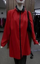 "Mycra Pac 36"" Red Stadium Zip Front Reversible Raincoat with Matching Travel Bag"