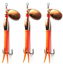 3 Flying C Spinners French Copper Blades 3 Single or Treble Hooks Fishing Lures
