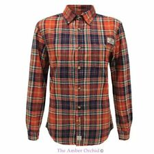 MENS NEW DESIGNER VINTAGE BUTTON DOWN PLAID CHECK FLANNEL SHIRT CASUAL TOP S-XXL