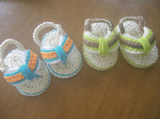 Baby Sandals Crocheted Cotton Baby Shoes Crib Shoes Flip Flop Sandals