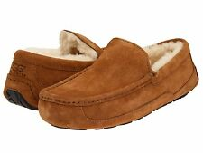 Ugg Australia Ascot Chestnut Suede 5775 Men's Loafer Casual Warm Shoes NICE GIFT
