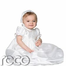 Baby Girls Christening Gown, White Christening Gown, White Dress