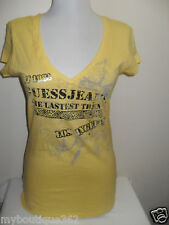 NEW WITH TAG GUESS  YELLOW TEE TOP W/ GUESS LOGO LQQK