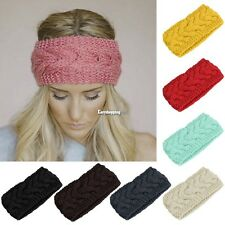Ear Warmer Headwrap Headband Knit Flower Hairband Fashion Crochet Winter Women