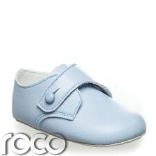 Baby boys blue soft sole shoes, baby blue Christening shoes, baby boys shoes