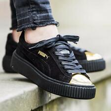 PUMA SUEDE CREEPER BLACK GOLD FENTY RIHANNA SNEAKER TOE NEW WOMENS SIZE 6-10