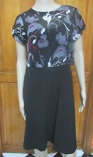 DKNY Silk Black Floral Top Dress Cami Underlay 2  12 NWT 10 NWOT  Retail $335