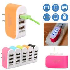 Mini 3 USB LED Triple Travel Home Wall Charger Power Adapter Fast Charging 3.1A
