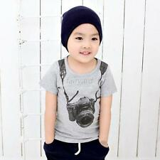 Lovely Baby Kids Summer Printed Clothes Baby Boys Casual Cotton Tops T-shirt Tee