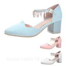 Office Casual Ladies High Heels Mid Heel Classic Shoes AU sz 4 5 6 7 8 9 10