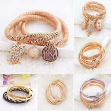 3pcs /set Newest Women Bracelets Round Cute Charm Rhinestone Crystal Party Gifts