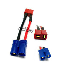2 Dean's T Plug Female to EC3 Male Plug Wire Connector Adapter Converter P18