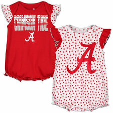 Alabama Crimson Tide Girls Newborn 2-Pack Bodysuit Set - Crimson - NCAA
