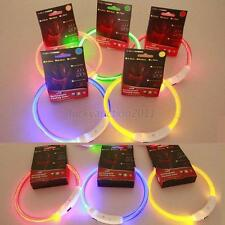 USB LED Flashing Light Band Belt Safety Pet Small Dog Night Safety Collar Bright