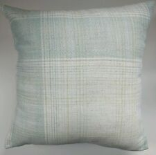 "Cushion Cover in Next Teal Blue Woven Check 14"" 16"" 18"" 20"""
