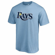 Tampa Bay Rays Secondary Color Primary Logo T-Shirt - Light Blue - MLB