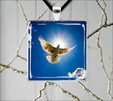 DOVE BIRD SYMBOL OF PEACE FOR ALL PENDANT NECKLACE -lpk9Z