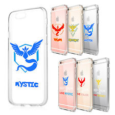 Pokemon Go Team Red Blue Yellow Clear Cover Case for iPhone 5 5S SE 6 6S Plus