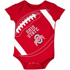 Infant Scarlet Ohio State Buckeyes Fanatic Football Bodysuit - College