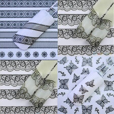 Nail Art Nail Decals Tips Stickers Flower Manicure Lace French 3D