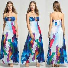 Sexy Women Summer off Shoulder Long Maxi Evening Party Long Dress Beach Sundress