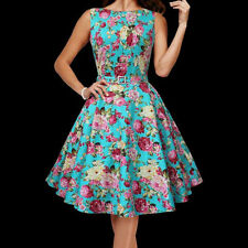 Hepburn Style Ladies Floral Vintage Divinity 1950s Rockabilly Swing Pin Up Dress