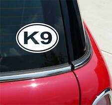 K9 POLICE DOG GRAPHIC DECAL STICKER ART WALL CAR EURO OVAL