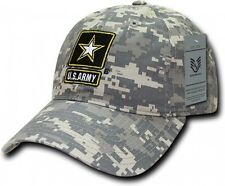 RapDom U.S. Army Star Relaxed Cotton Mens Cap