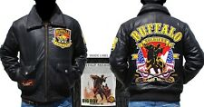 Buffalo Soldiers Commemorative S3 Mens Leather Bomber Jacket