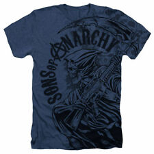 T-Shirts Size S-2XL New Sons of Anarchy Reaper Skulls Heather Mens T-Shirt