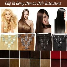 7pcs Clip In Remy 100% real Human Hair Extensions Full Head Promotion US✿ MX855