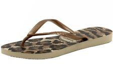 Havaianas Women's Slim Animals Fashion Beige/Rose Gold Flip Flops Sandals Shoes