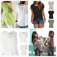 Sexy Womens Summer Loose Top Short Sleeve Blouse Ladies Casual Tops T-Shirt