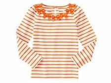 NWT Gymboree Girls Happy Harvest Halloween Orange Striped Bow Top Size 8 10 & 12