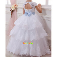 Girls Party Bridesmaid Wedding Flower girl Dress tutu dress Custom peagant Prom