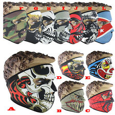 Neoprene Full Face Reversible Biker Motorbike Skiing Skateboard Scary Sport Mask