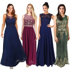 Ladies Formal Long Prom Maxi Dress Evening Ball Gown Bridesmaid Party Size 8-20