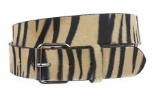 Snap On Zebra Print Belt