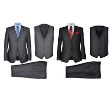 #bNew 3 pcs Men Bridegroom Business Dinner Formal Suit 2 Colour 5Size Selectable