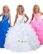 Flower Girl Prom Wedding Brithday Pageant Party Dresses Evening Ball fluffy 2-14