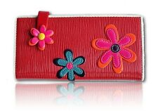 Ladies FLOWER POWER Large Purse - Faux Patent Leather - Red or Black - New