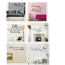 Removable Art Vinyl Wall Sticker Decal Mural Home Room Decor Quote Word Poem o2